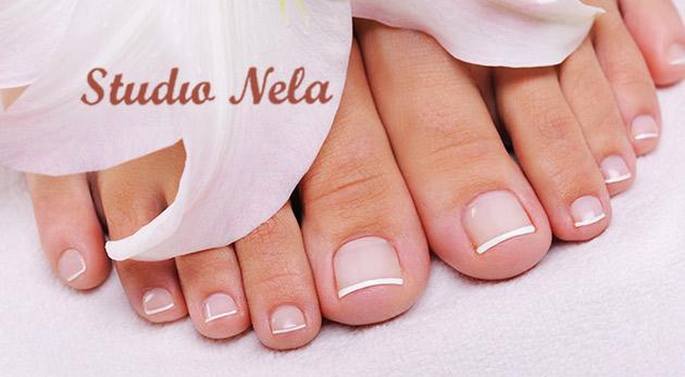 Aplikácia gélových nechtov na nohy v Štúdiu Nela v Bratislave