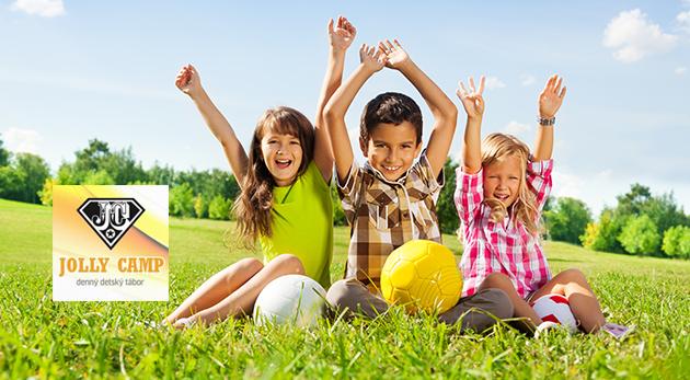 Denný tábor Jolly Camp pre deti počas letných prázdnin - celodenný program, strava a pitný režim v cene