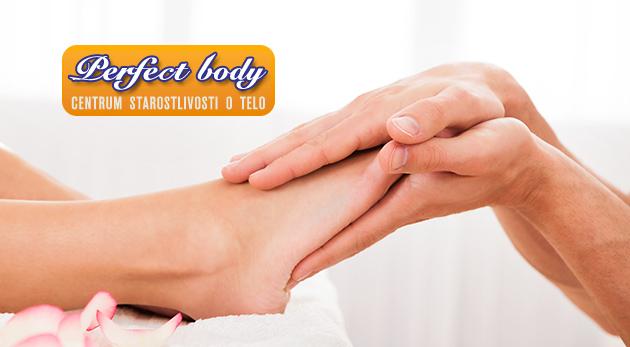 Polhodinová reflexná masáž chodidiel v salóne Perfect Body