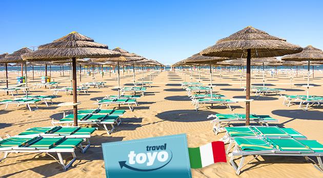Predĺžený víkend na pláži v Rimini v Taliansku - odskočte si oddýchnuť k priezračnému moru!