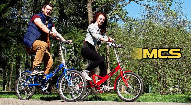 Štýlový skladací bicykel