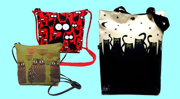 Dámske dizajnové tašky vo viacerých motívoch a dvoch rozmeroch