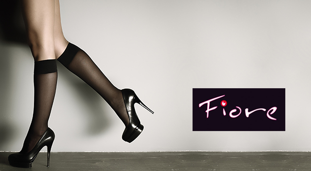 Ponožky alebo podkolienky značky Fiore v rôznych farbách - 20 párov