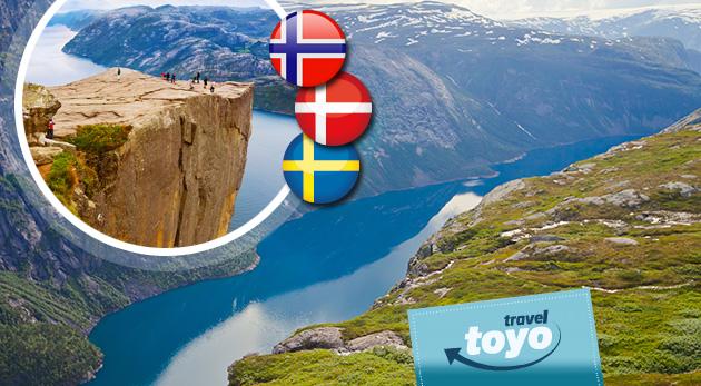 Poznávací 8-dňový autobusový zájazd do Škandinávie uprostred leta s CK Toyo Travel