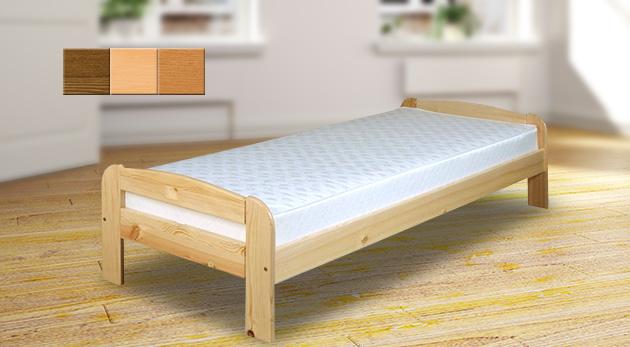 0afae2de59d2 Jednolôžková posteľ z borovicového masívneho dreva s roštom