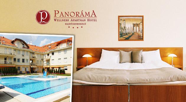 Wellness relax v Panoráma Wellness Apartman Hotel**** pri vychýrených maďarských kúpeľoch Hungarospa