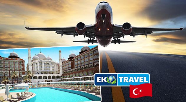 Luxusný 8-dňový letecký zájazd do hotela Royal Taj Mahal***** na Tureckej riviére s ULTRA ALL INCLUSIVE