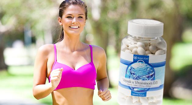 Výživový doplnok 200 kapsúl - vápnik a vitamín D3