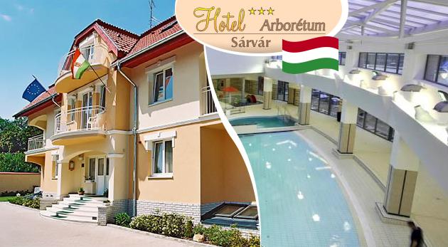 Odpočinok v Hoteli Arborétum*** v maďarskom meste Sárvár s raňajkami a vstupom do kúpeľov počas letnej sezóny