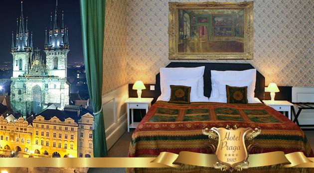 2 alebo 3 dni v centre Prahy v historickom Hoteli PRAGA 1885**** s raňajkami