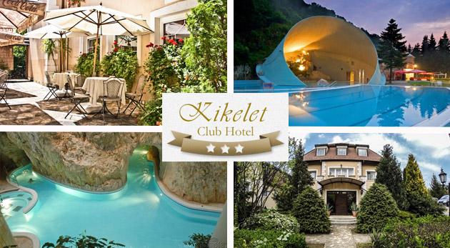 Wellness v Club Hoteli Kikelet*** pri známych maďarských jaskynných kúpeľoch v Miskolctapolca