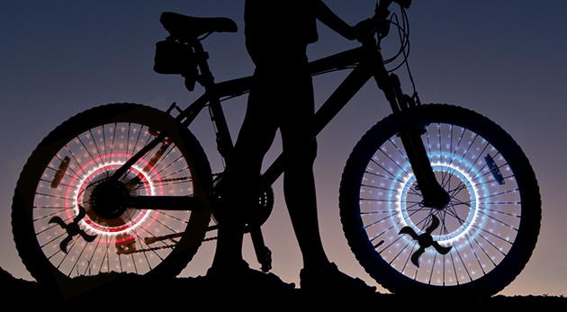 2 kusy LED svetiel na kolesá bicykla alebo motorky