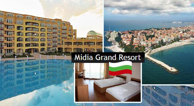 Letná dovolenka v apartmánoch Midia Grand Resort v Bulharsku (cena za 2 osoby, príp. 3. osoba grátis)