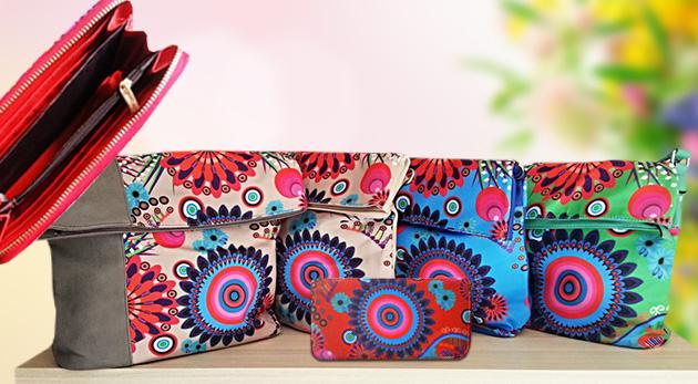 Farebné letné peňaženky a kabelky
