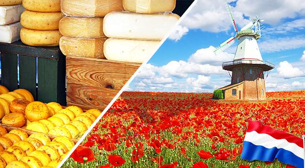 4-dňový zájazd do Holandska - krajina tulipánov, veterných mlynov a drevákov