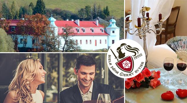 Romantický letný pobyt v historickom kaštieli Biela dáma a Čierny rytier na Spiši