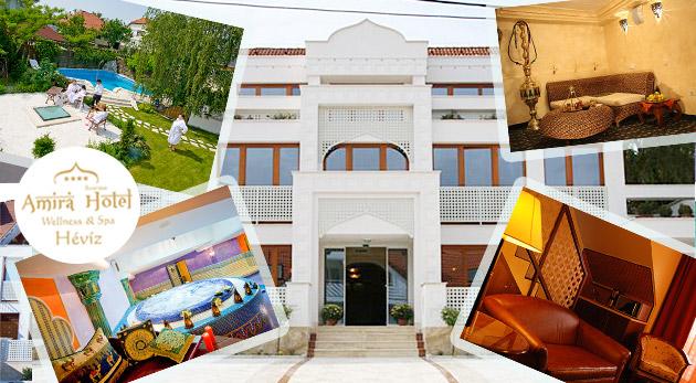 Orientálny wellness pobyt v luxusnom maďarskom Hoteli AMIRA**** pri jazere Hévíz