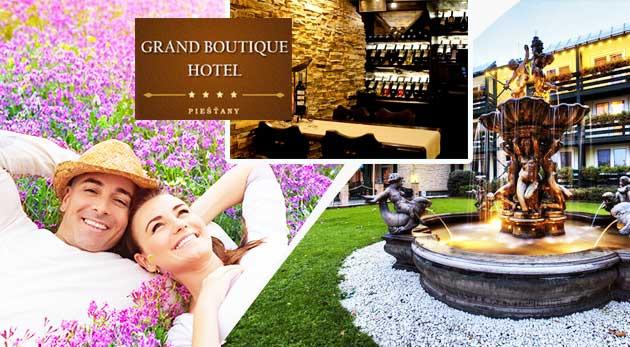 Wellness pobyt plný romantiky pre vás a vašu polovičku v elegantnom Grand Boutique Hoteli Sergijo**** v Piešťanoch