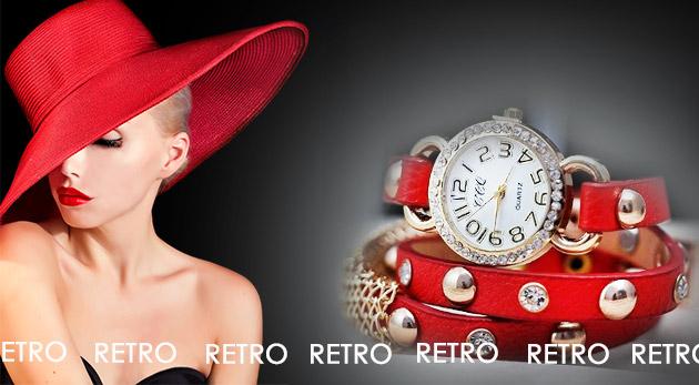 Štýlové retro dámske hodinky v 5 farbách