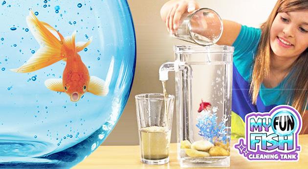 Samočistiace akvárium My Fun Fish s gravitačným čistením vody