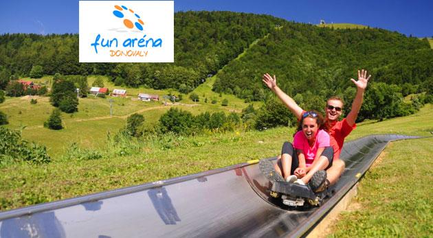 FunAréna Donovaly - zábava a adrenalín na bobovej dráhe - 2 jazdy