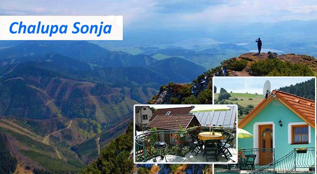 Letný oddych pre 4 osoby na Liptove v Chalupe Sonja pod Chočskými vrchmi s wellness