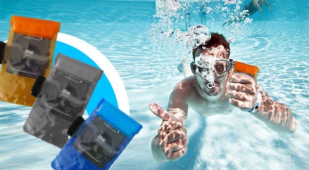Ochranné vodotesné puzdro na mobil s možnosťou pripevnenia na ruku