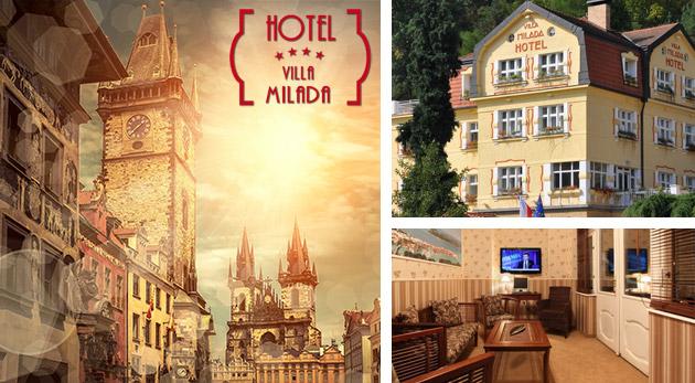 Luxus v Boutique hoteli Villa Milada**** neďaleko historického centra Prahy