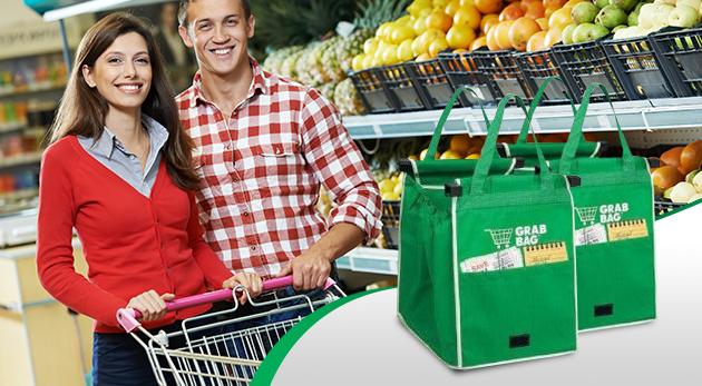 Praktické a ekologické nákupné tašky s možnosťou prichytenia na košík - 2 ks v balení