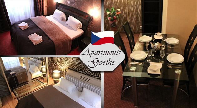Relax pre dvoch v obľúbených Karlových Varoch v štýlových Apartmánoch Goethe U Tří mouřenínu v centre