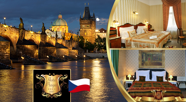Luxusný pobyt v centre Prahy v historickom Hoteli PRAGA 1885**** s raňajkami