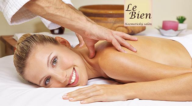 Masáž chrbta a šije alebo hodinová masáž celého tela