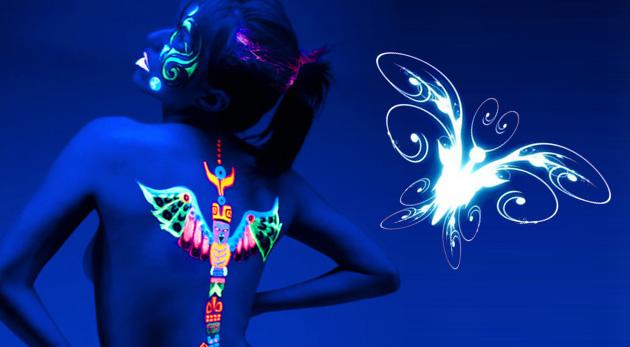 Dočasné tetovanie, ktoré svieti v tme