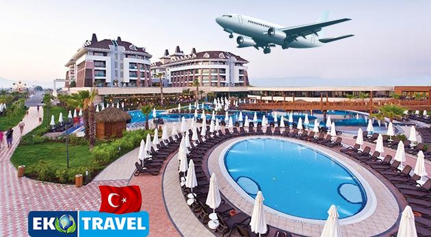 8-dňový letecký zájazd do Turecka s ubytovaním v luxusnom 5* hoteli Sherwood Dreams Resort