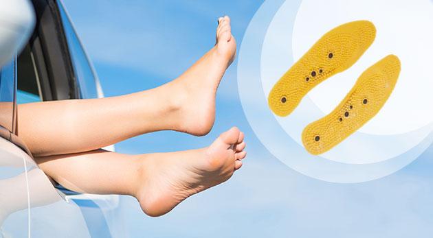 Masážno-magnetické vložky do topánok pre zdravé a vitálne chodidlá
