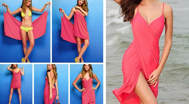 b430dd985bd0 Plážové šaty - farba modrá za 6