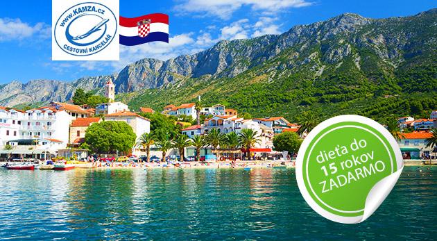Letná dovolenka v chorvátskom Gradaci v Apartmánoch Kristína***