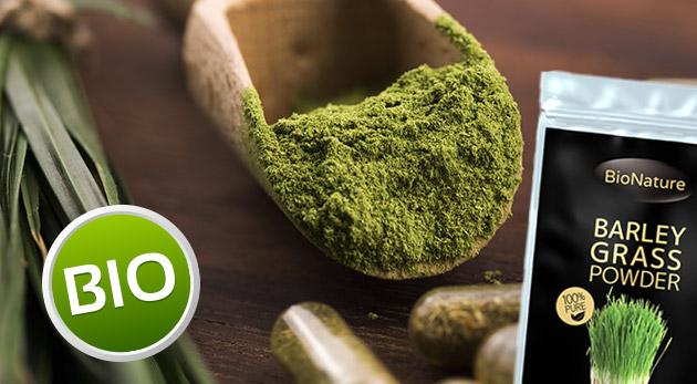 Mladý zelený jačmeň v 100 % organickej kvalite - 200 g alebo 500 g balenie