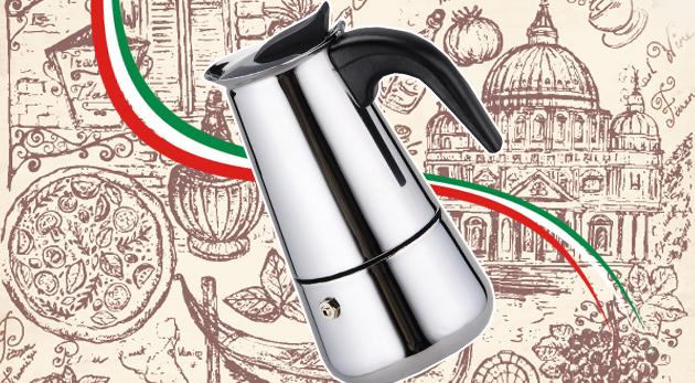 Taliansky kávovar z prvotriednej nehrdzavejúcej ocele