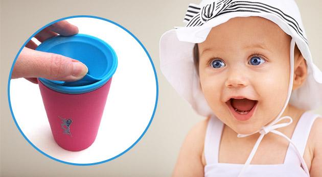Nerozbitný pohár WOW s ventilom proti rozliatiu pre vaše deti