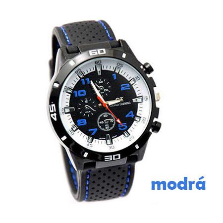 Pánske hodinky značky GT Grand Touring, farba modrá