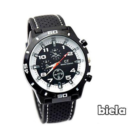 Pánske hodinky značky GT Grand Touring, farba biela