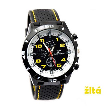 Pánske hodinky značky GT Grand Touring, farba žltá
