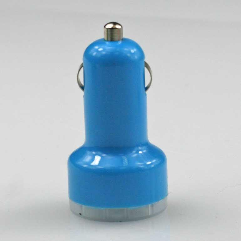 USB auto nabíjačka tyrkysová