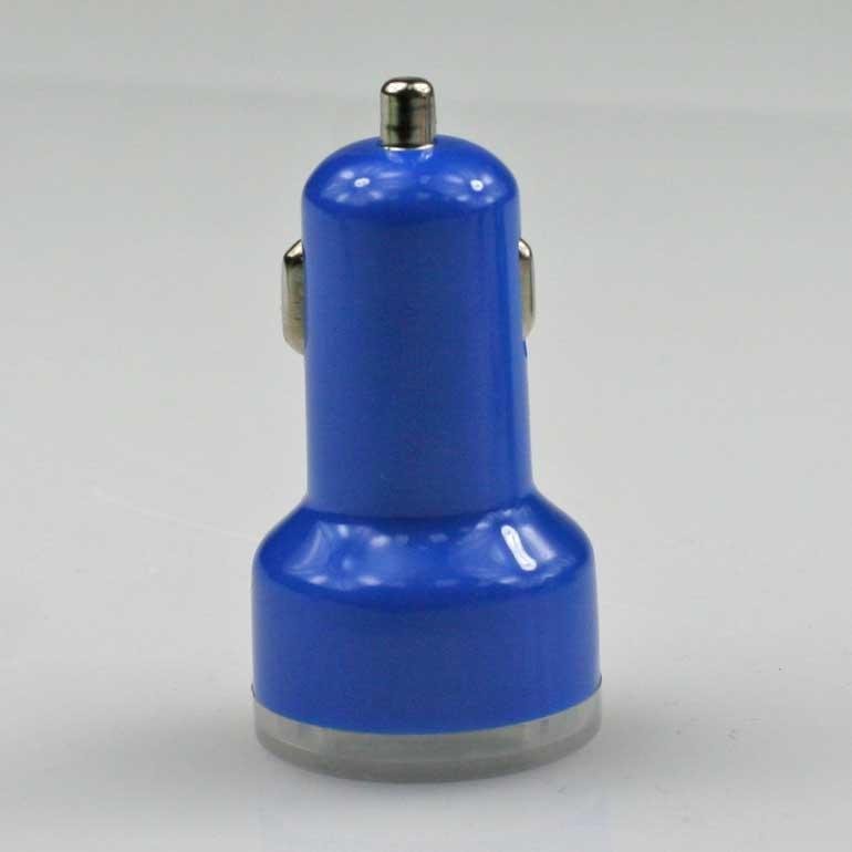 USB auto nabíjačka modrá