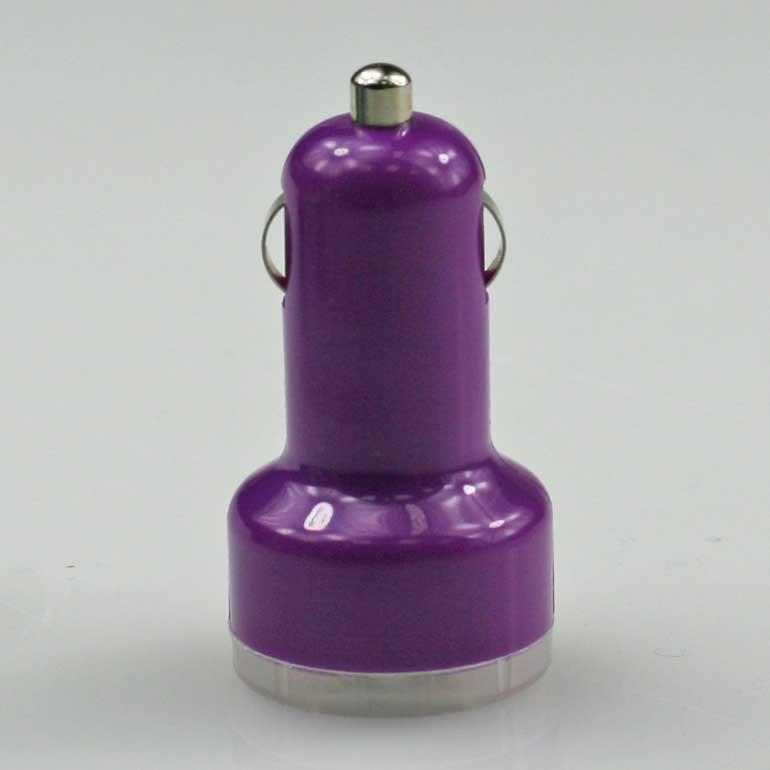 USB auto nabíjačka fialová