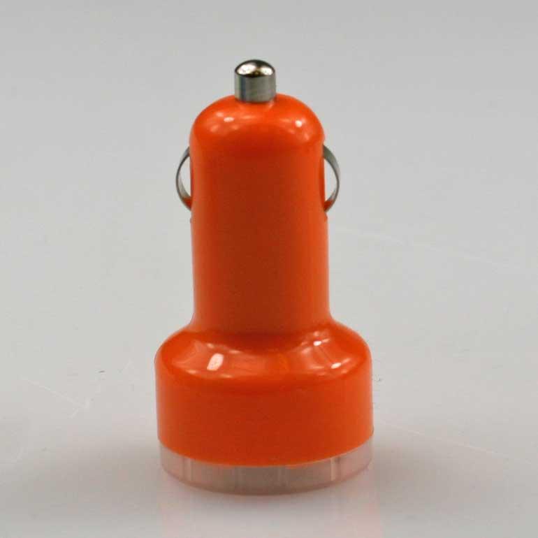 USB auto nabíjačka oranžová