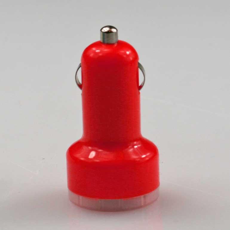 USB auto nabíjačka červená