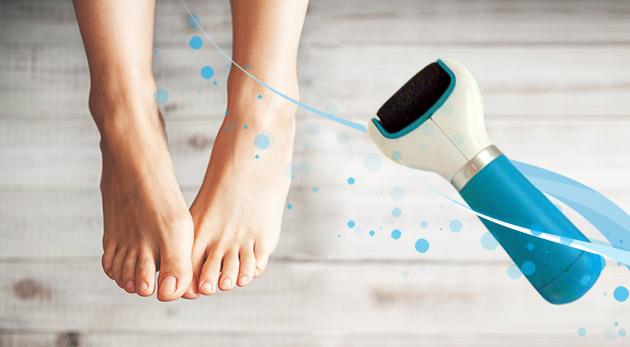 Elektrický pilník na chodidlá Velvet Soft pre zamatové chodidlá rýchlo a jednoducho