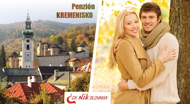 Jesenný oddych v krásnom prostredí Štiavnických vrchov v Penzióne Kremenisko